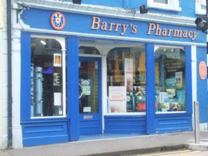 Barrys Pharmacy Shop Front Tubbercurry small